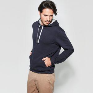 Felpa bicolore con cappuccio da uomo da personalizzare o stampare a treviso